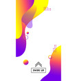 template for social media stories abstract vector image vector image
