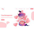 time management man and woman work near to the vector image