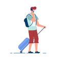 tourist man traveler person in mask vector image