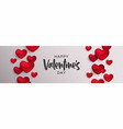 valentines day 3d red love heart shape web banner vector image