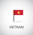 vietnam flag pin vector image vector image
