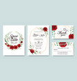 wedding invitation save date thank you card vector image