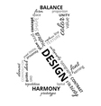 Word cloud about design vector image