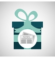 happy fathers day with gift newspaper vector image