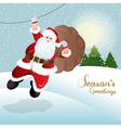 Santa Claus greeting card design vector image