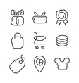 Trade sale set icons vector image