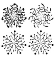 Abstract snowflakes2 vector image