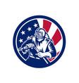 american sandblaster usa flag icon vector image vector image