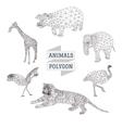 Animal polygon set 2 vector image vector image