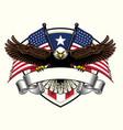 bald eagle design holding blank ribbon vector image vector image
