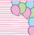 balloons cartoons frame vector image