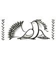 bird decorative ornament vector image vector image