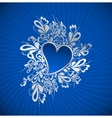 Blue Heart To The StValentine vector image