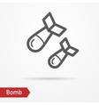 Bomb silhouette icon vector image vector image