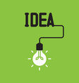 Bulb with idea concept vector image vector image