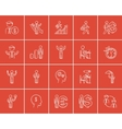 Business sketch icon set vector image vector image