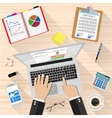 Businessman Workplace Desk vector image