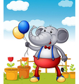 Cartoon Balloons Elephant vector image