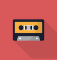 cassette icon set of great flat icons with style vector image
