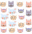 cats abstract modern seamless pattern it is vector image