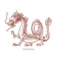 Chinese dragon mythological animal or asian