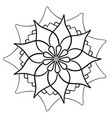 circular ornament in the form of a flower vector image