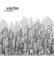 cityscape hand-drawn vector image
