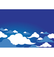 clouds design over sky background vector image