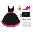 cocktail dress colorful banner vector image vector image