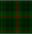 dark green tartan plaid pattern vector image vector image