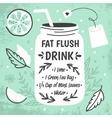 Detox fat flush water recipe vector image