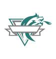 dragon esport vintage logo vector image vector image