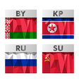 flags in polygonal style vector image vector image