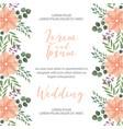 flower wedding card vector image vector image