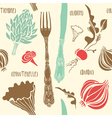 Food seamless doodles vector image
