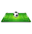 football field soccer field set with vector image vector image