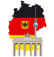 german landmarks and map vector image vector image