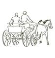 hand drawn horses vector image vector image