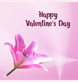 happy valentines day greeting card postcard with vector image