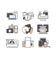 Household icons set Color vector image