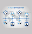 infographic design with hi-tech icons vector image vector image