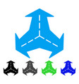intersection directions flat icon vector image vector image