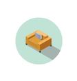 isometric modern orange comfortable armchair vector image vector image