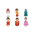 kids in traditional costumes set saudi arabia vector image vector image