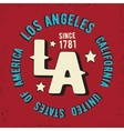 Los Angeles vintage stamp vector image