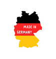 made in germany words on map vector image vector image