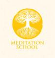 meditation school creative concept on vector image vector image