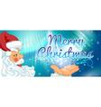 Merry Santa Claus frame vector image