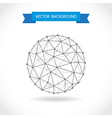 Molecular sphere vector image vector image