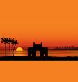 mumbai city india urban skyline with skyscraper vector image vector image